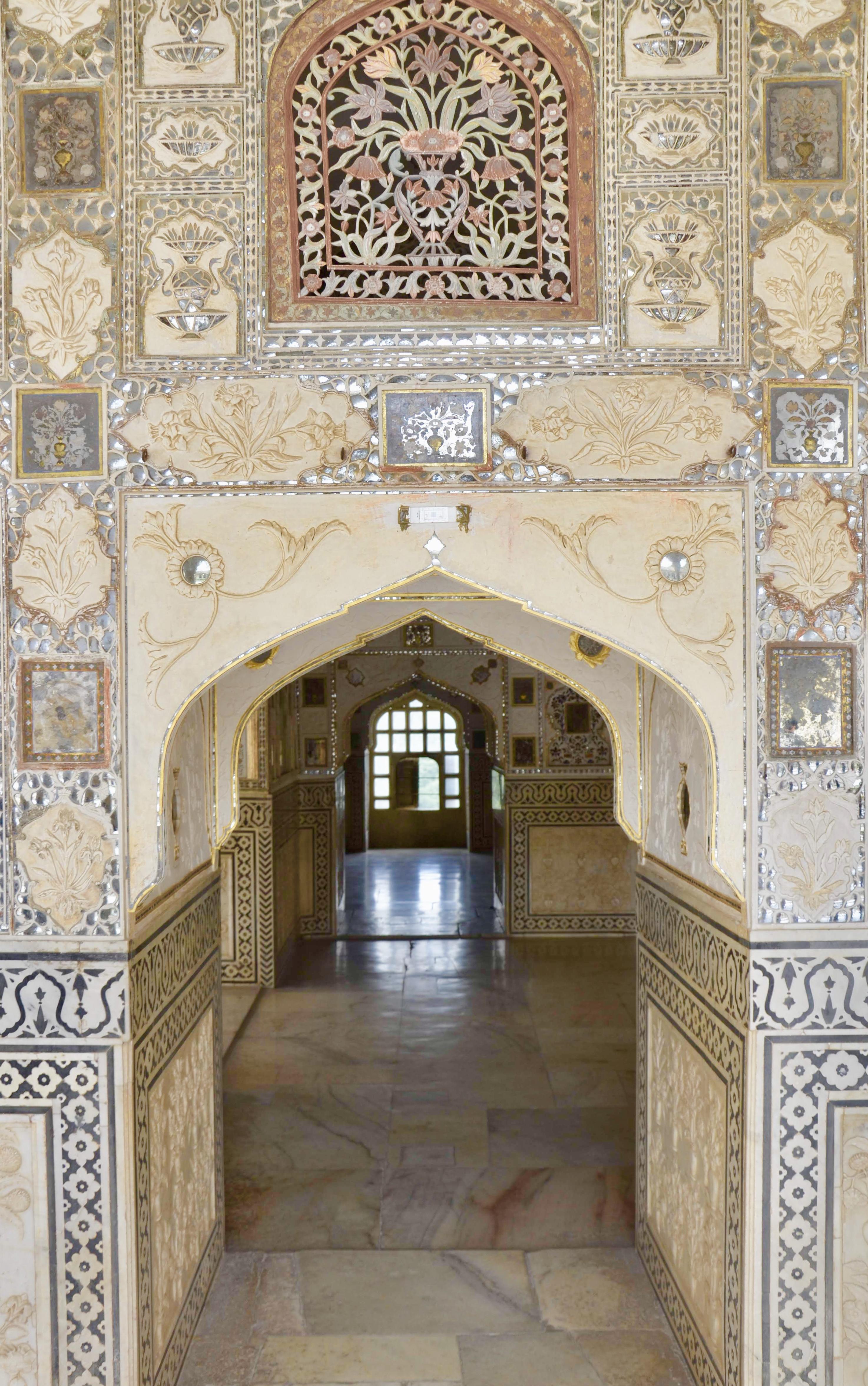 Detalhes do Sheesh Mahal
