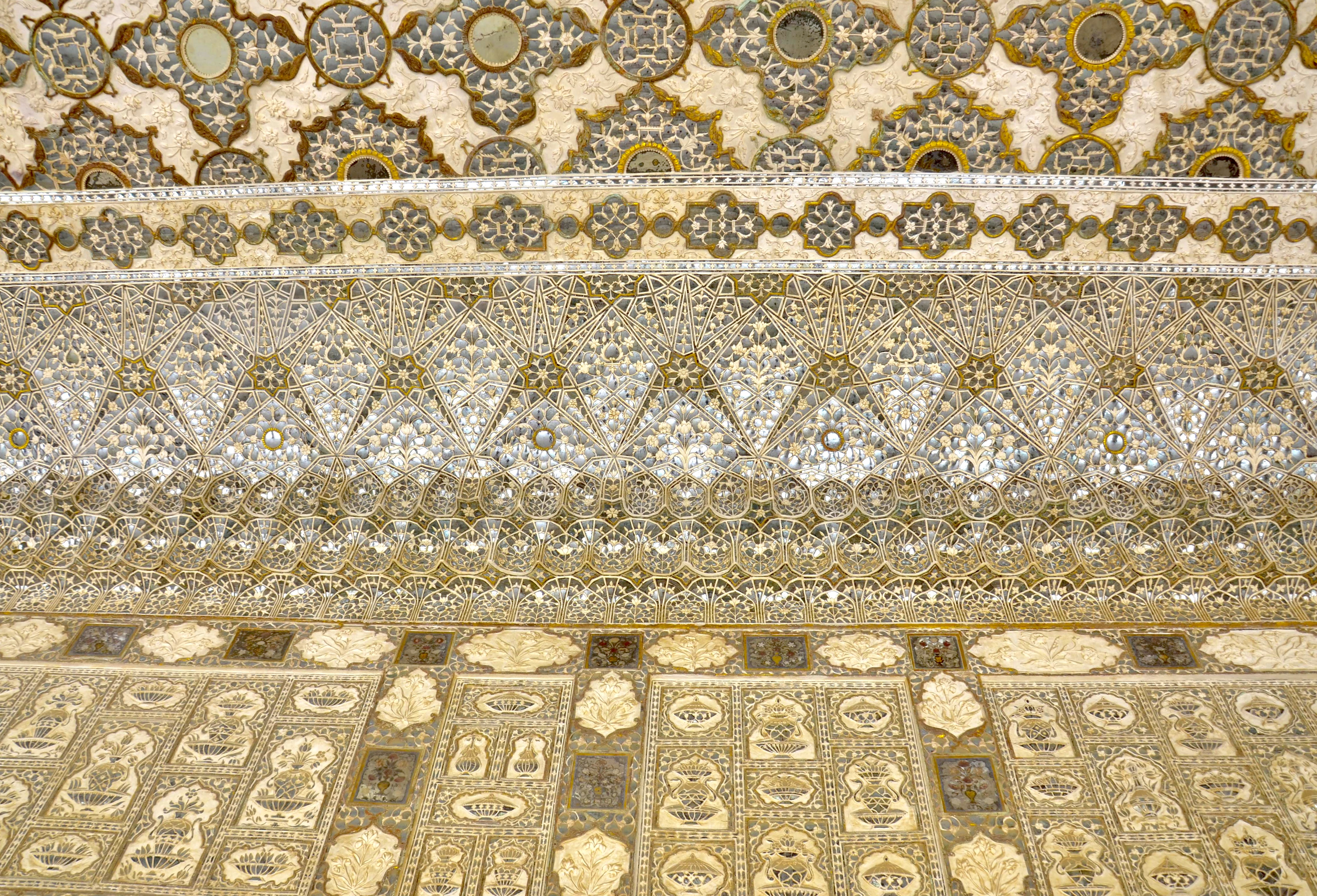 Palácio dos espelhos na Índia