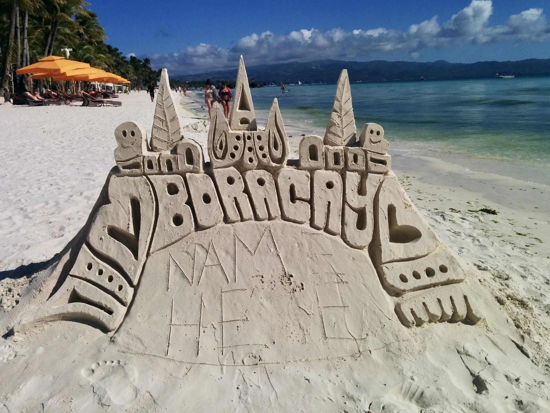 Sand castle, castelo de areia