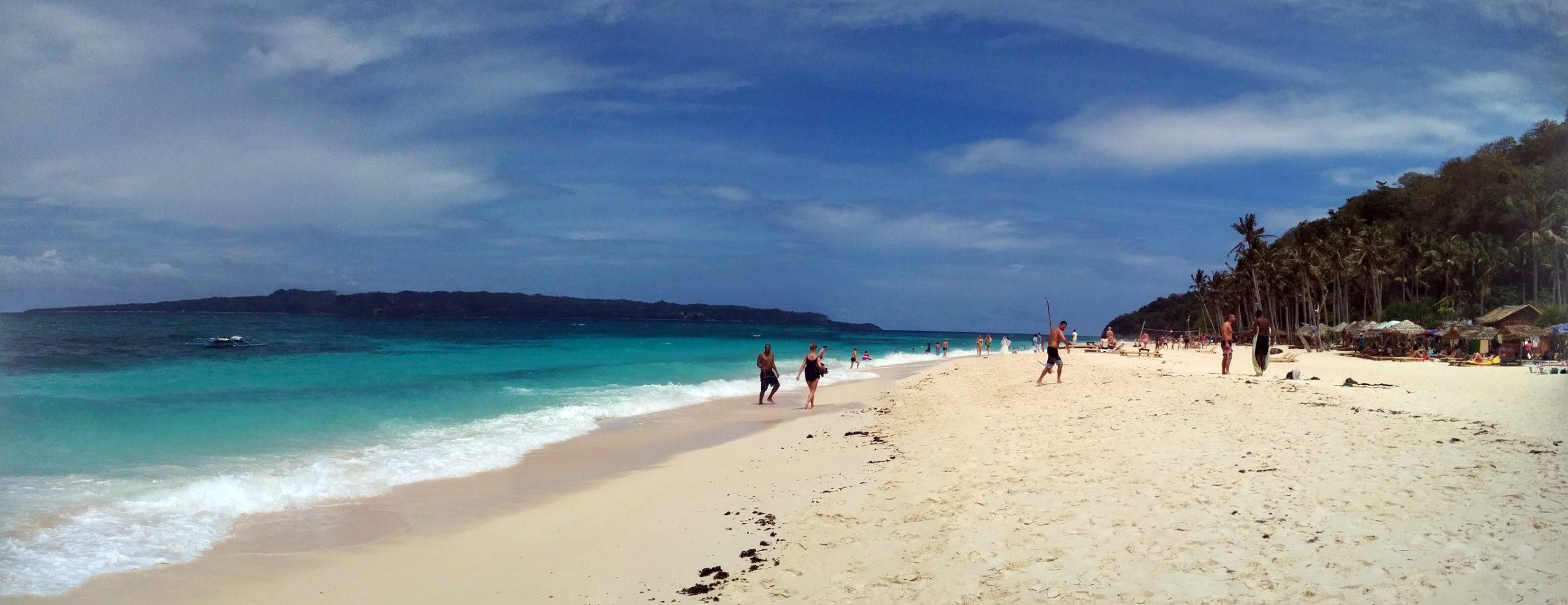 Praia paradisíaca nas Filipinas