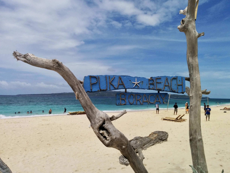 Puka Beach nas Filipinas